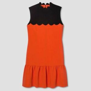 Victoria Beckham Target Dress Orange Black Size L